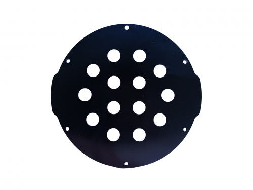 4″ End Cap – Aluminium – 14 holes