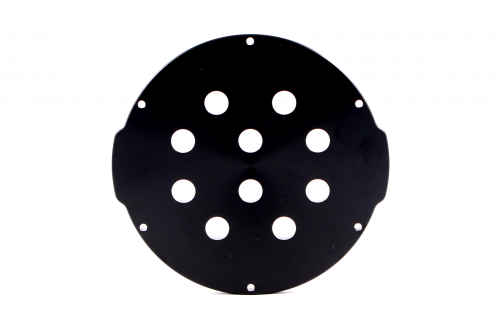 4″ End Cap – Aluminium – 10 holes
